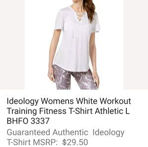 IDEOLOGY FITNESS TSHIRT. WHITE